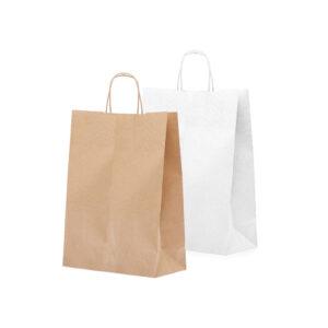 Effetto Grafico - Shopper di carta colorata avana e bianca