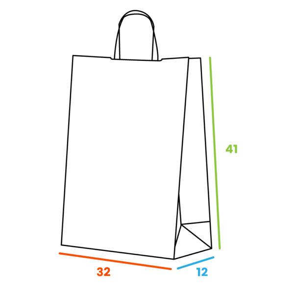 Effetto Grafica - Accendi le tue idee - Shopper piattina bianca gr 80