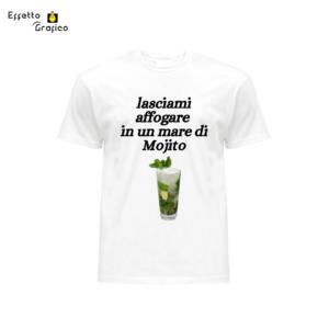 """t-shirt personalizzata con stampa """"lasciami affogare in un mare di Mojito"""""""