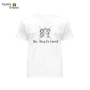"""t-shirt personalizzata con stampa """"No Boyfriend"""""""