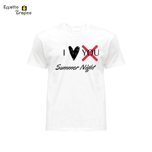 T-shirt personalizzata con stampa I love Summer Night